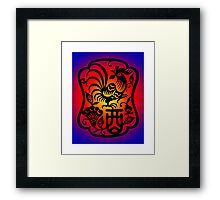 Chinese Zodiac Rooster Symbol Framed Print