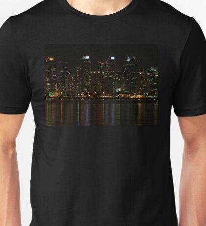 San Diego Skyline Night Unisex T-Shirt