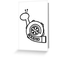 Boost snail Greeting Card