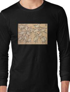 'Cranes' by Katsushika Hokusai (Reproduction) Long Sleeve T-Shirt