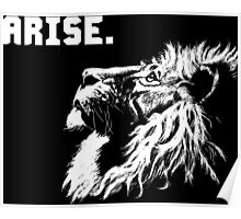 ARISE - Lion Motivation Poster