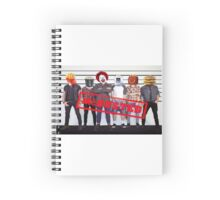 McDonalds A.K.A McBusted Boy Band Spiral Notebook