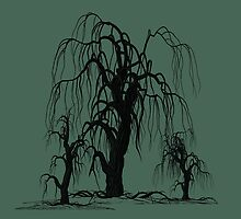WEEPING WILLOW TREES by Cuddlechimp
