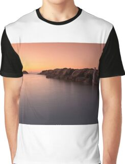 Sunset at the sea in Cesano of Senigallia Graphic T-Shirt