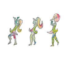 Dancing Lady of the Colors Photographic Print