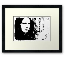 Sad Portrait Framed Print