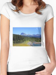 Chief Mountain Montana Women's Fitted Scoop T-Shirt