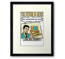 Retro Internet Comic Book Ad T Shirt Framed Print