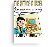 Retro Internet Comic Book Ad T Shirt Metal Print