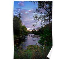 Cuyahoga River at Sunset Poster