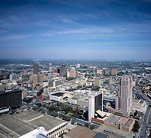 San Antonio Texas Skyline by BravuraMedia