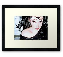 Cool as Fcuk - Self Portrait Framed Print