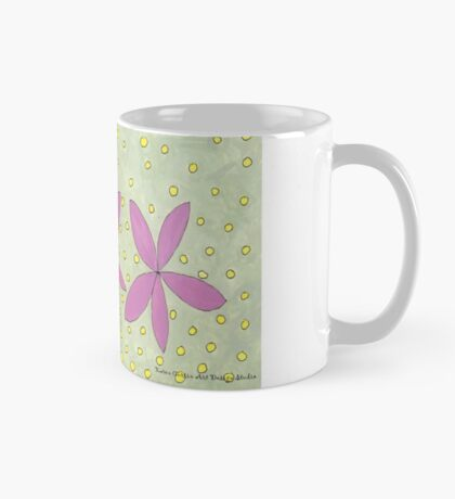 Purple Tiny Flower Painting Mug