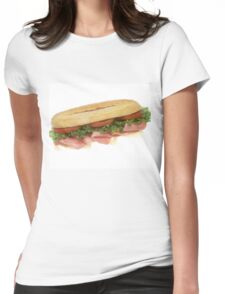 Deli Sandwich Womens Fitted T-Shirt