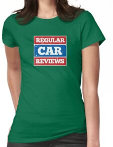 Regular Car Reviews Logo White Womens Fitted T-Shirt