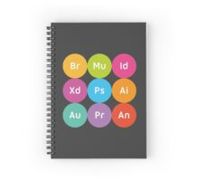 Adobe CC Circles Spiral Notebook
