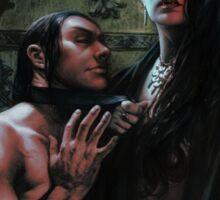 Vampire Queen and Blood Bag Sticker