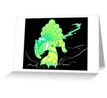 Neon Tiger Greeting Card