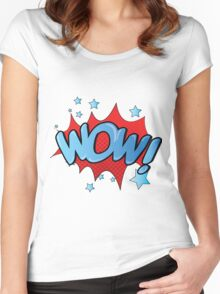 WOW! Women's Fitted Scoop T-Shirt