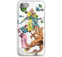 Vintage Political Cartoon Map of Europe (1877) iPhone Case/Skin