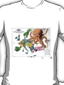 Vintage Political Cartoon Map of Europe (1877) T-Shirt