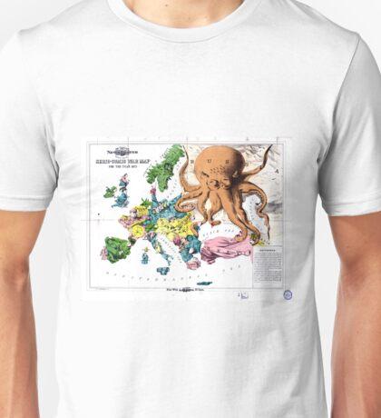 Vintage Political Cartoon Map of Europe (1877) Unisex T-Shirt