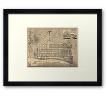 Vintage Map of Savannah Georgia (1818) Framed Print