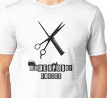 Comb and Scissors are My Weapon of Choice Unisex T-Shirt