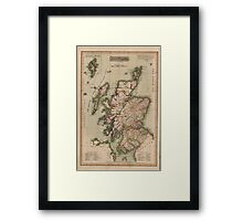 Vintage Map of Scotland (1814)  Framed Print