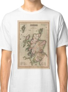 Vintage Map of Scotland (1814)  Classic T-Shirt