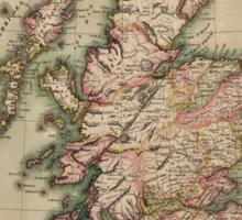 Vintage Map of Scotland (1814)  Sticker