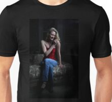 Sexy Blond Sitting Unisex T-Shirt