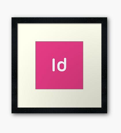 Adobe Indesign CC Square Framed Print