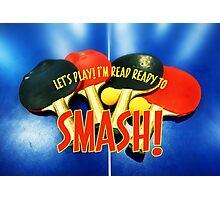 Ready to Smash Pingpong Bats Table Tennis Paddles Rackets Photographic Print