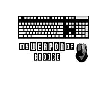Keyboard and Mouse - My Weapon of Choice Photographic Print