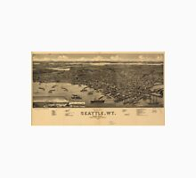 Vintage Pictorial Map of Seattle (1884) Unisex T-Shirt
