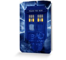 Blue Police Public Call Box  Greeting Card