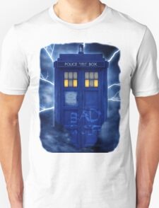 Blue Police Public Call Box  T-Shirt