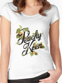 Peachy Keen : Mint Women's Fitted Scoop T-Shirt
