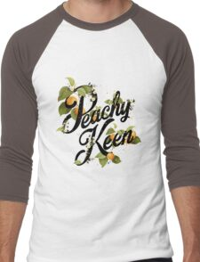 Peachy Keen : Mint Men's Baseball ¾ T-Shirt