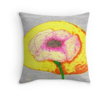 Wide open glowing bloom Throw Pillow