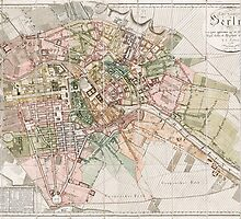 Vintage Map of Berlin (1811)  by BravuraMedia