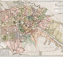 Vintage Map of Berlin (1811)  by BravuraMedia