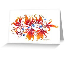 The Lacy Leaves of Autumn Greeting Card