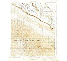 USGS TOPO Map California CA East Elk Hills 296066 1932 31680 geo Photographic Print