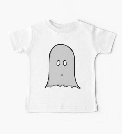 Grey Spooky Ghost  Baby Tee