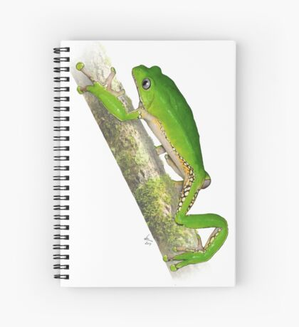 Giant Monkey Frog Phyllomedusa bicolor Spiral Notebook