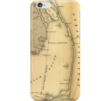 Vintage Map of The Outer Banks (1862) iPhone Case/Skin
