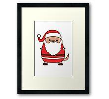 Cute Christmas Santa Pupsheen Framed Print