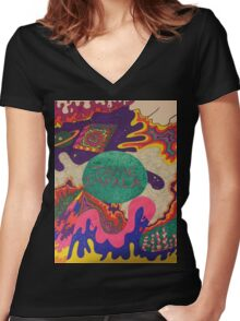 Tame Impala Design Women's Fitted V-Neck T-Shirt